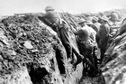 Ormond Burton (left) in the trenches at Le Signy Farm in France during World War I. Photo / supplied, John Douglas Publishing