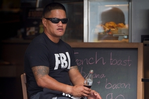 Teina Pora toasted his freedom with a bottle of soft drink - but the Parole Board says its his decision not to talk to the media.  Photo / Sarah Ivey