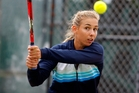 New Zealand No1 Marina Erakovic in action at Mount Maunganui yesterday. Photo/Geroge Novak