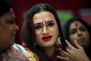 Transgender activist Lakshmi Narayan Tripathi. Photo / File / AP