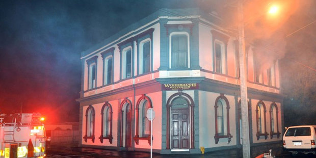 The old Woodhaugh Hotel's new tenants had a smokey early morning wake up call. Photo / ODT
