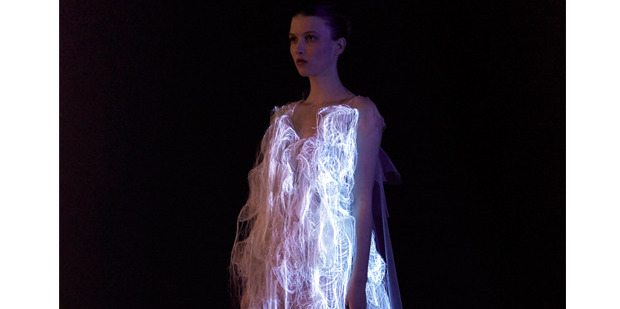 An illuminated dress by Ying Gao, one of the speakers at the Shapeshifting conference in Auckland this week. Picture / Supplied