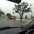 Floods on Tamaki Drive in Auckland. Photo / Brad Robinson