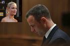 Oscar Pistorius and, inset, Reeva Steenkamp. Photos / AP