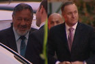 Maori Party co-leader Pita Sharples and Prime Minister John Key arriving at the event. Photo / Maori Television