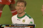 Jan Gunnar Solli picked up the silliest yellow card you are ever likely to see. Photo / Youtube.