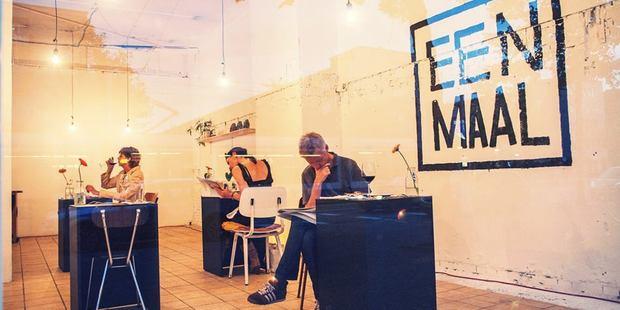 Solo dining at Eenmaal in Amsterdam. Photo / Eenmaal