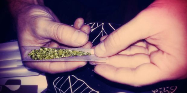 Rolling a Marijuana Joint Lomo Style