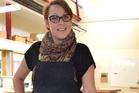 Kathryn Wightman at work in her studio.  Photo/Supplied