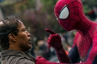Villain-to-be Jamie Foxx comes up against Andrew Garfield's Spider-Man.