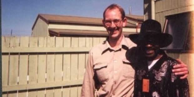 Rubin Carter visited David Bain in prison in September 2001. Photo / Supplied by Joe Karam