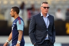 Benji Marshall (left) and Blues coach Sir John Kirwan are walking away from their Super Rugby partnership. Photo / Getty Images