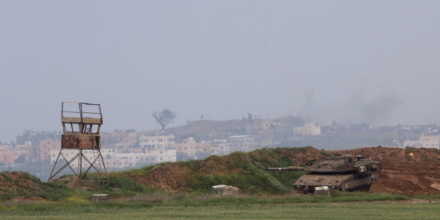 The southern border with the Gaza Strip. Photo / AP
