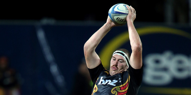 Lock Brodie Retallick wins ball for the Chiefs but it doesn't happen often enough. Photo / Getty Images