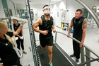 Joseph Parker and coach Kevin Barry have worked hard to increase his power. Photo / Chris Gormon