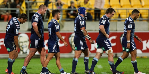 The Blues are a dejected mob after their loss to the Hurricanes and they need to find a game plan that maximises their resources. Photo / Getty Images