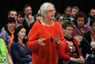 Gaylene Preston, who has made numerous feature films and documentaries, spoke at the opening ceremony of the eight-day National Youth Drama School in Havelock North, which will culminate in performances open to the public this weekend. Photo/Duncan Brown