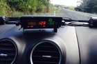 This photo was taken from the Northland Police Facebook page. The officer reported traffic was heavy on Easter Monday with plenty of boats, trailers and lines of cars. The speed on the detection device in a police car at Waiotu just south of Hukerenui snapped a driver going 128km/h. Photo/Supplied
