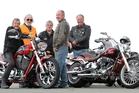 Ulysses Motorcycle Club Hawke's Bay members Len June Taradale, Cliff Haydon, Napier, Jeff McPhun, Taradale, Robert Anderson, Taradale and Barry Robertson, Napier. Photo/Duncan Brown