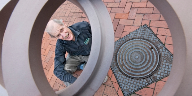 Rotorua roading engineer Neil Gumbley has invented the Rotaring, a system that allows manhole covers to be fitted level with the road surface. Photo / Ben Fraser