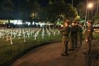 The ANZAC day dawn service at Memorial Square, Napier. Photo/Warren Buckland