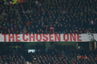 Manchester United fans have put the 'David Moyes Chosen One' banner up for sale on eBay. Photo / Getty Images.