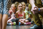 Meredith Webber, 6, waits for her turn to audition at today's try-outs for The Sound of Music. Photo / Jason Dorday
