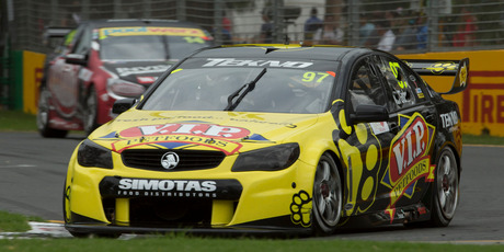 Shane Van Gisbergen driving during the Melbourne Grand Prix.