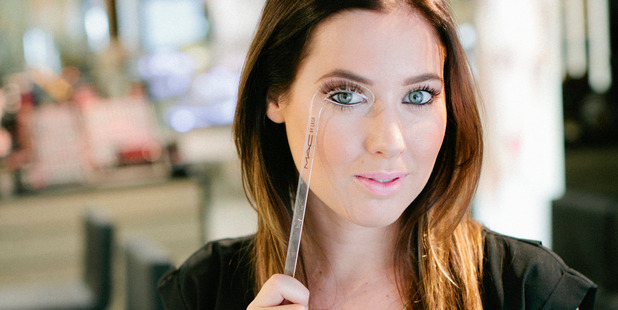 Trying out a false lash look at the new M.A.C lash bar. Photo / Supplied.