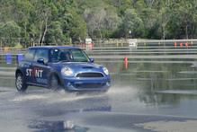 Mini stunt driving school. Photo / David Linklater