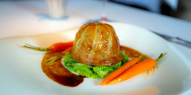 Rabbit pie. Photo / Michael Craig