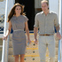 The Royal couple doing matchy-matchy style on their visit to Uluru, with the Duchess of Cambridge in a mauve dress by Roksanda Ilincic. Picture / AP Images