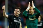 Chelsea's Frank Lampard (left) and Mark Schwarzer. Photo / AP