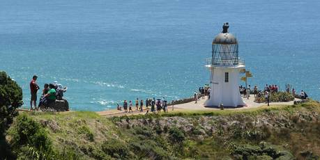 Germans are likely to travel widely, visiting sites such as Cape Reinga in the Far North. Photo / Greg Bowker