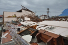 The West Coast bore the brunt of the Easter storm. Here the Band Hall at Blaketown was destroyed. Photo / supplied