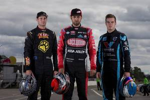 Shane van Gisbergen (left), Fabian Coulthard and Scott McLaughlin will have the local fans on their side.