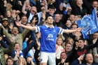 Kevin Mirallas netted Everton's second goal just before halftime. Photo / AP