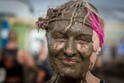 Emery Griffith was one of about 5000 people tackling the 20km mud and obstacle course at Hampton Downs.MICHAEL CRAIG