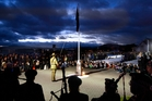 LEST WE FORGET: About 2000 people were at yesterday's Dawn Parade at Ohinemutu to honour the Anzac legacy. PHOTO/BEN FRASER 250414BF4