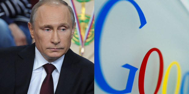 Vladimir Putin probably won't be Googling his own name then. Photo / AP