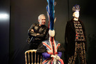 Jean Paul Gaultier poses with a metre high mohican in the Punk Cancan section. Pictures / Getty Images, Darenote, Paolo Roversi.