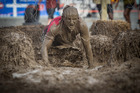 Tough Mudder event, Hampton Downs Raceway. Contestants tackle the Electro Shock Therapy obstacle. Photo / Michael Craig