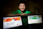 Tristan Pang came up with the idea of setting up his learning hub after other kids asked him for help with maths. Photo / Sarah Ivey