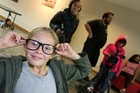 A film maker in the making, Olivia Bratty, 9, plays the part of teacher in the short movie her group made under the guidance of Channel North staff. Photo/Michael Cunningham