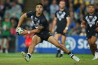 Shaun Johnson looks for a pass in the Kiwis' 30-18 Anzac Test loss to the Kangaroos. Photo / Getty Images.