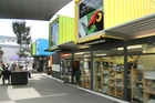 Shipping containers used at Cashel Mall. Photo / Richard Robinson