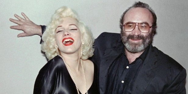 British actor Bob Hoskins posing with Olivia Link, impersonator of Marilyn Monroe, in 1988 (see no. 5). Photo / AFP