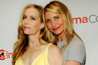 Cameron Diaz with Leslie Mann, her co-star in her latest movie, The Other Woman. Photo/AP