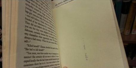 The envelope inside a book, tweeted by Coldplay