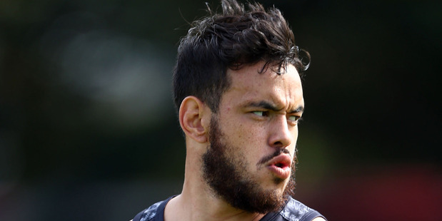 Isaac John in action during a New Zealand Kiwis training session at Allianz Stadium. Photo / Getty Images.